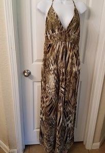 Lucky Brand halter top maxi dress